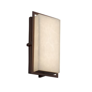 Clouds - Avalon Dark Bronze LED Outdoor Wall Sconce with Off-White Clouds Resin