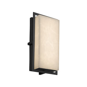 Clouds - Avalon Matte Black LED Outdoor Wall Sconce with Off-White Clouds Resin