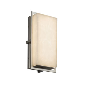 Clouds - Avalon Brushed Nickel LED Outdoor Wall Sconce with Off-White Clouds Resin
