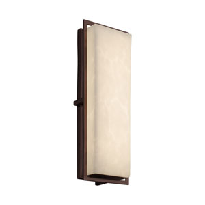 Clouds - Avalon Dark Bronze 18-Inch LED Outdoor Wall Sconce with Off-White Clouds Resin