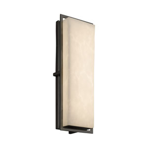 Clouds - Avalon Matte Black 18-Inch LED Outdoor Wall Sconce with Off-White Clouds Resin