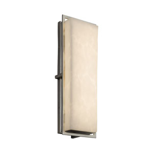 Clouds - Avalon Brushed Nickel 18-Inch LED Outdoor Wall Sconce with Off-White Clouds Resin