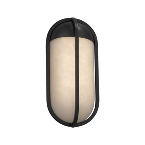Clouds - Starboard Matte Black LED Outdoor Wall Sconce with Off-White Clouds Resin