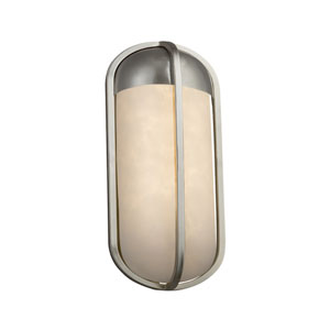 Clouds - Starboard Brushed Nickel LED Outdoor Wall Sconce with Off-White Clouds Resin