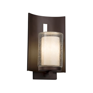 Clouds - Embark Dark Bronze One-Light Outdoor Wall Sconce with Off-White Clouds Resin