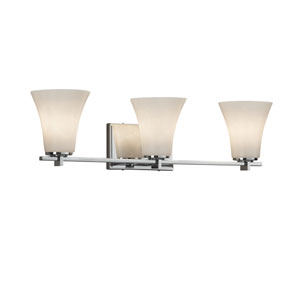 Clouds - Era Polished Chrome Three-Light Bath Vanity with Off-White Clouds Resin