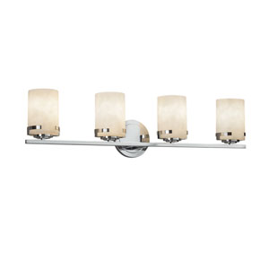 Clouds - Atlas Polished Chrome Four-Light LED Bath Vanity with Off-White Clouds Resin