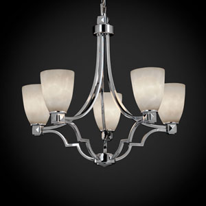 Clouds Argyle Five-Light Polished Chrome Chandelier