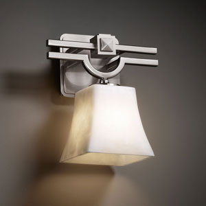 Clouds Argyle Brushed Nickel Wall Sconce