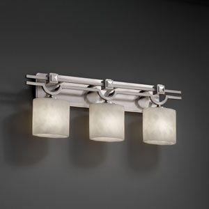 Clouds Argyle Three-Light Brushed Nickel Bath Fixture