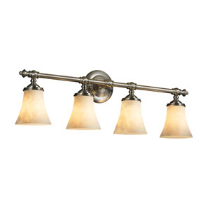 Clouds Tradition Four-Light Brushed Nickel Bath Fixture