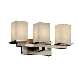 Clouds Montana Three-Light Brushed Nickel Bath Fixture