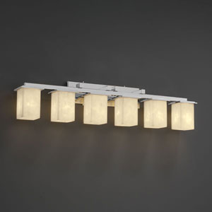 Clouds Montana Six-Light Dark Bronze Bath Fixture