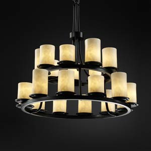 Dakota Twenty-One Light Two-Tier Ring Chandelier