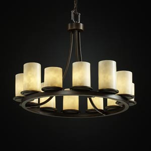 Clouds Dakota Twelve-Light Short Ring Chandelier