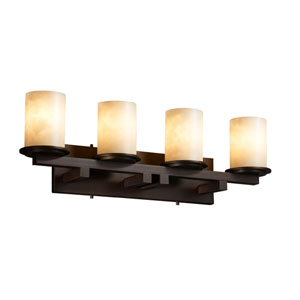 Clouds Dakota Four-Light Dark Bronze Straight-Bar Bath Fixture