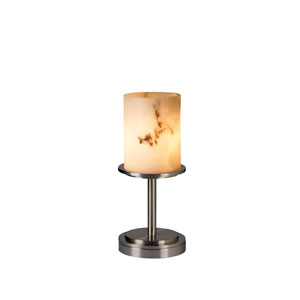 Clouds Dakota Brushed Nickel Short Table Lamp