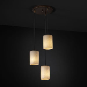 Clouds Modular Three-Light Matte Black Cluster Mini Pendant