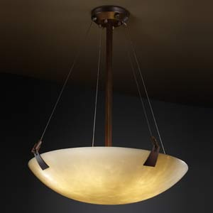 24-Inch Bowl Pendant with Tapered Clips