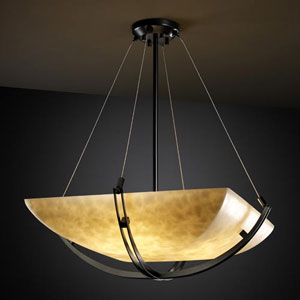 Clouds 24-Inch 5000 Lumen LED Bowl Pendant with Crossbar