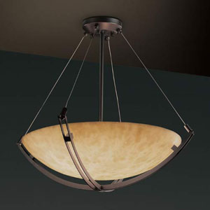 36-Inch Bowl 6000 Lumen LED Pendant with Crossbar