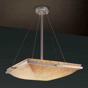 18-Inch Square Bowl 3000 Lumen LED Pendant with Ring