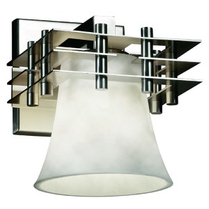 Clouds Metropolis Polished Chrome One-Light Round Flared Wall Sconce