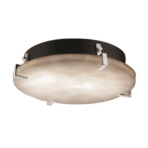 Clouds Polished Chrome Four-Light 16-Inch Wide Fluorescent Round Clips Flush Mount