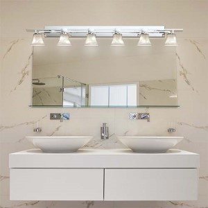 Clouds Polished Chrome Six-Light Bath Bar