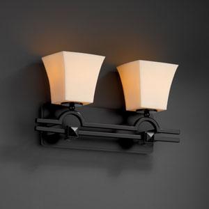 CandleAria Argyle Two-Light Matte Black Bath Fixture