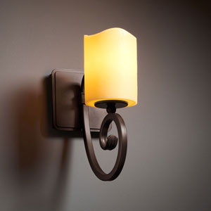 CandleAria Victoria Dark Bronze Wall Sconce