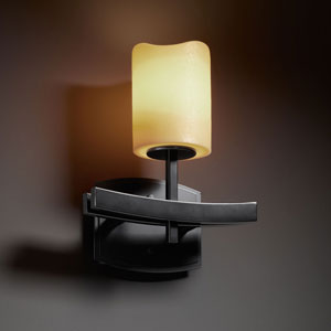 CandleAria Archway Matte Black Wall Sconce