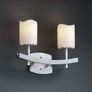 CandleAria Archway Two-Light Brushed Nickel Bath Fixture