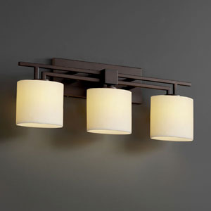 CandleAria Aero Three-Light Dark Bronze Bath Fixture