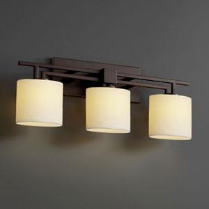 CandleAria Aero Three-Light Dark Bronze Bath Fixture