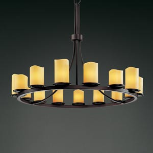 CandleAria Dakota Fifteen-Light Ring Chandelier