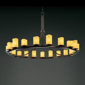 CandleAria Dakota Twenty-One-Light Ring Chandelier
