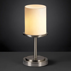 CandleAria Dakota Brushed Nickel Short Table Lamp