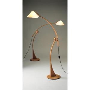 Domus Apollo Beech Wood Floor Lamp