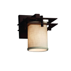 Textile  Dark Bronze 6.5-Inch LED Wall Sconce