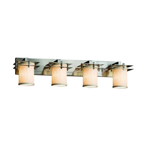 Textile Brushed Nickel 36.5-Inch LED Bath Bar