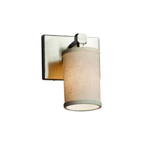 Textile Brushed Nickel 6-Inch LED Wall Sconce