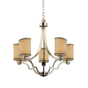 Textile Brushed Nickel 28-Inch LED Chandelier