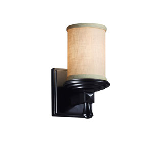 Textile  Matte Black 4.5-Inch LED Wall Sconce