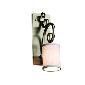 Textile Brushed Nickel 5-Inch LED Wall Sconce