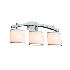 Textile Brushed Nickel 25.5-Inch LED Bath Bar