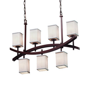 Textile  Dark Bronze 6-Inch LED Chandelier
