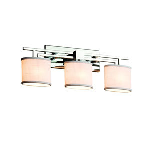 Textile  Polished Chrome 26.5-Inch LED Bath Bar