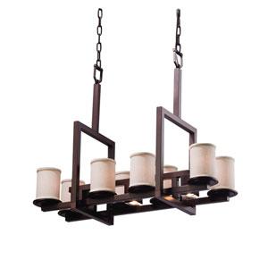 Textile  Dark Bronze 13-Inch LED Chandelier