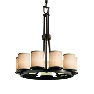 Textile  Dark Bronze 23-Inch LED Chandelier
